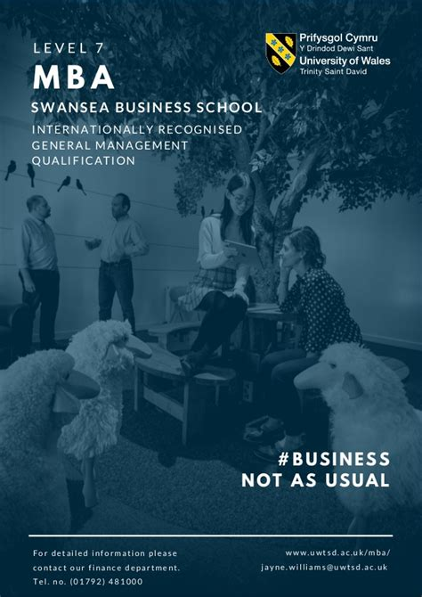 Uwtsd Mba by Mba At Swansea Business School Study Patterns Information