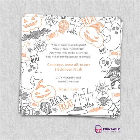 printable halloween wedding invitations halloween 2015 party invitation template wedding