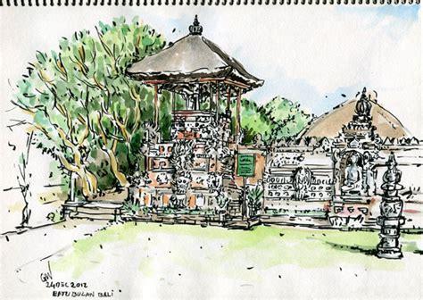 sketchbook indonesia sketchers indonesia bale kulkul