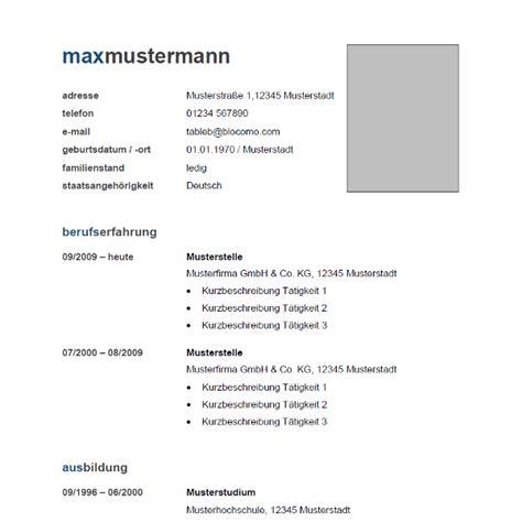 Lebenslauf Muster Auf Word Lebenslauf Word Newhairstylesformen2014