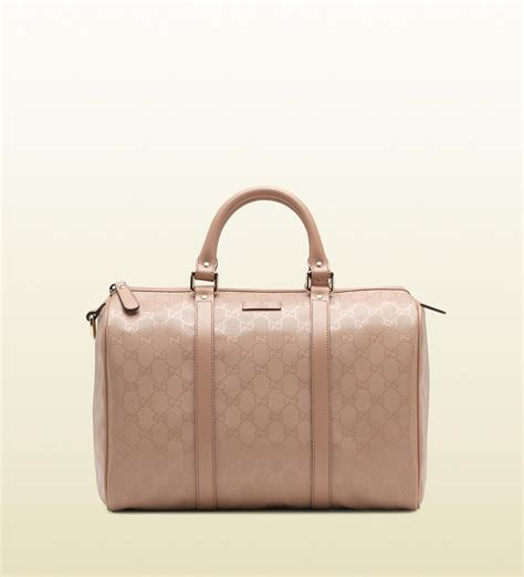 Guci Leather gucci leather boston bag in pink lyst