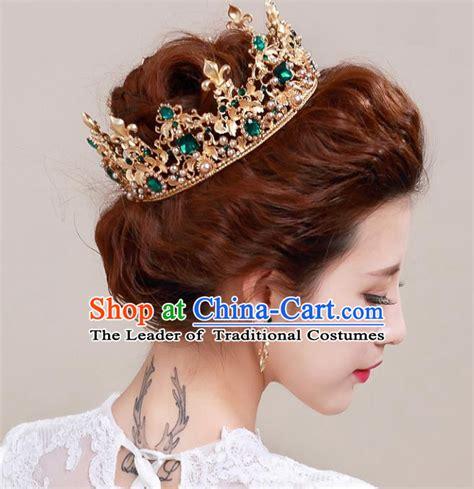 Handmade Hair Style - golden crowns princess