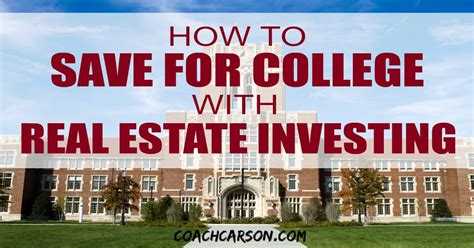 Best College For Mba In Real Estate In India by How To Save For College With Real Estate Investing