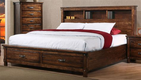 california king storage bedroom sets brown rustic classic 6 piece california king bedroom set