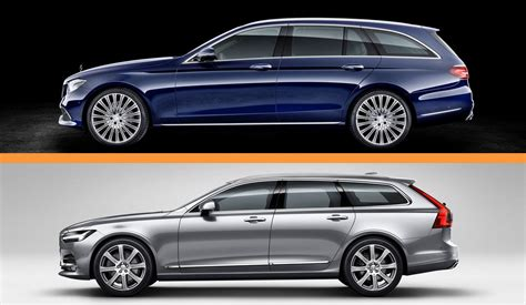 swank wagon tech showdown mercedes  class  volvo  picture  car news  top speed