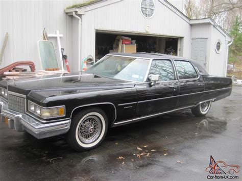 1976 Cadillac Fleetwood Talisman For Sale by 1976 Fleetwood Talisman Black 500 Cu In Carb