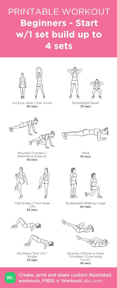25 best ideas about easy beginner workouts on