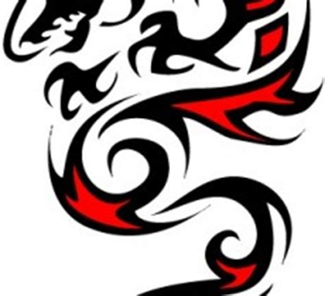 red an black dragon tribal image download free image