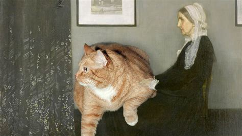 mona cat fat cat 22 pound feline appears in mona lisa and other