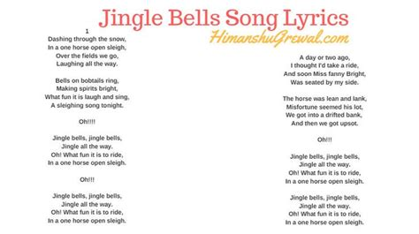 jingle bells song lyrics  english
