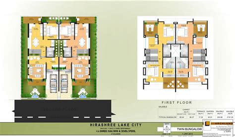 design plan hirashree lake city floor plans project 3d views in kolhapur