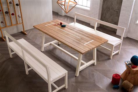 panca arredamento panca in legno con schienale panca callesella arredamenti