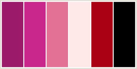 colours that go well with light pink colorcombo235 with hex colors 9c1c6b ca278c e47297