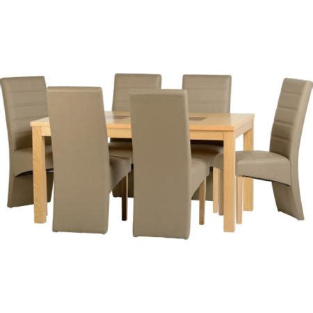 Taupe Dining Room Chairs Seconique Wexford Oak Dining Set Taupe Faux Leather Dini And Ivory Leather Dining Room Chairs
