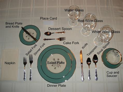 table setting from the inn to the restaurant from the kitchen to the