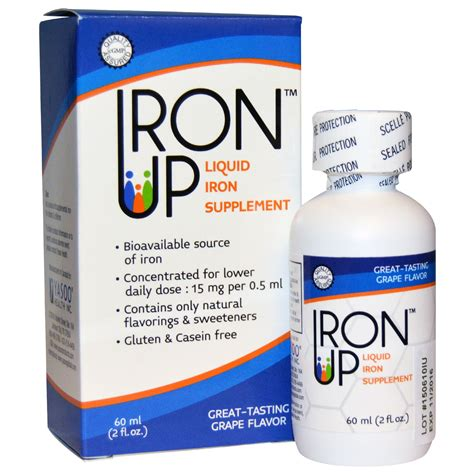 supplement with iron a c grace company iron up liquid iron supplement grape
