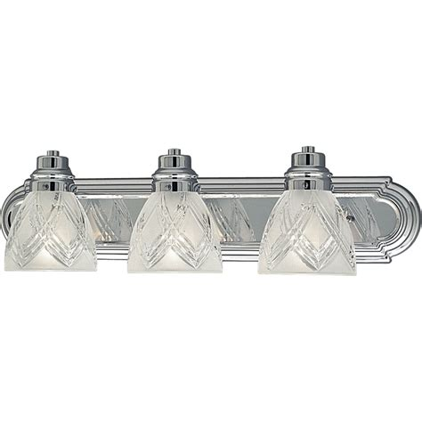 crystal bathroom light fixtures progress lighting p3044 15 crystal cut transitional