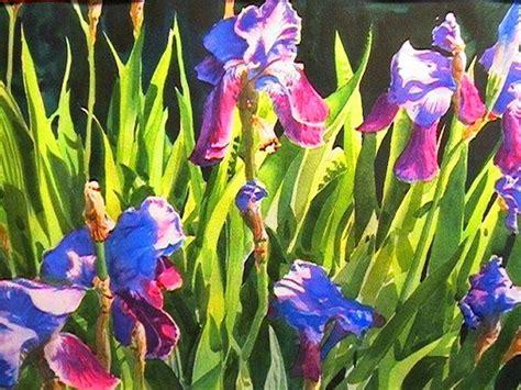 watercolor tutorial iris painting the purple iris watercolorpainting com
