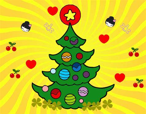 dibujo de arbol de navidad pintado por malexandra en