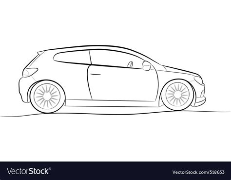 Sketches Of Cars by Car Sketch Royalty Free Vector Image Vectorstock