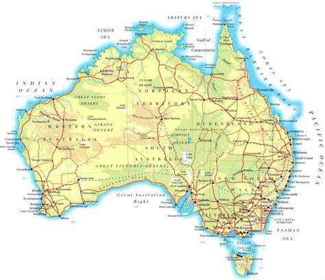 australa map australia maps printable maps of australia for