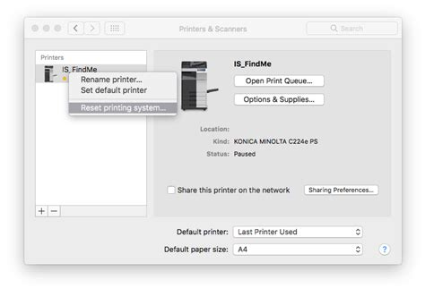 reset all printers on mac mac os x ds print setup it help support