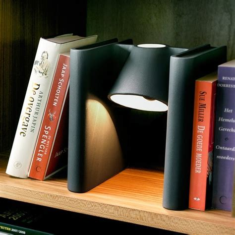 mr ed bookend floats a light onto your bookshelf