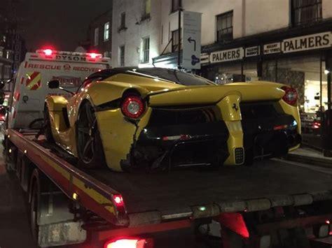 laferrari crash laferrari crashes in london looks like another in traffic