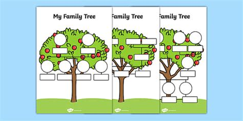 preschool family tree template my family tree worksheets family tree template