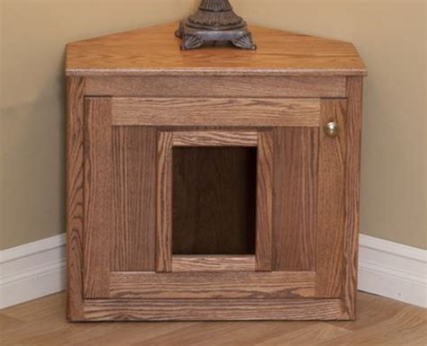 Wooden Litter Box Cabinets by Hideaway Litter Box Cat Litter Furniture Oak Wood