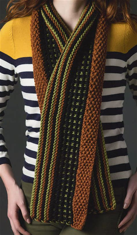 striped knit scarf pattern cozy scarf knitting patterns in the loop knitting
