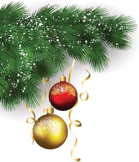 free vector beautiful christmas decoration ball hanging