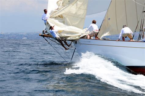 bow boat waves argentario to naples by fife ketch classic boat magazine