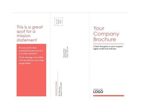 Word Template For 17 By 11 Sheet Of Business Cards by 11x17 Brochure Template 5 Best Professional Templates