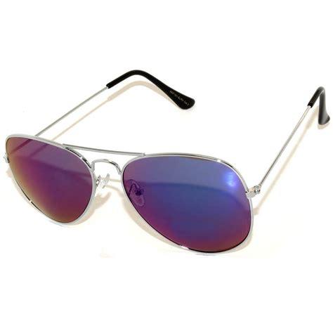 7 Pairs Of Aviator Sunglasses by Owl 174 Eyewear Aviator Sunglasses Silver Frame Mirror Blue