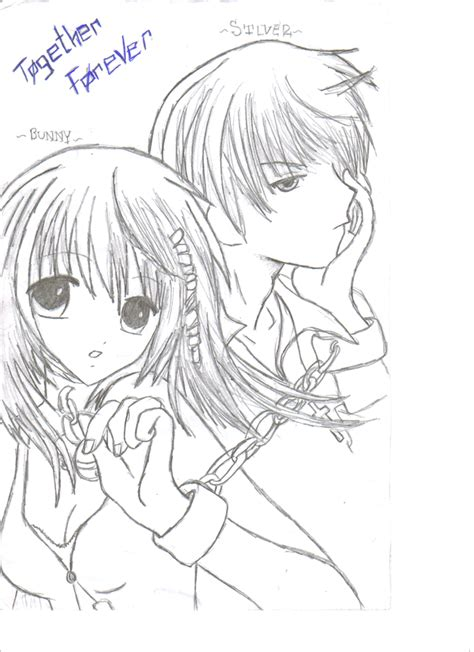anime neko couple coloring pages coloring pages