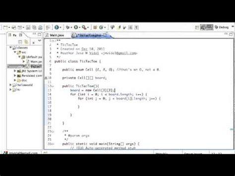 construct 2 array tutorial java tic tac toe board program 2d array tutorial youtube