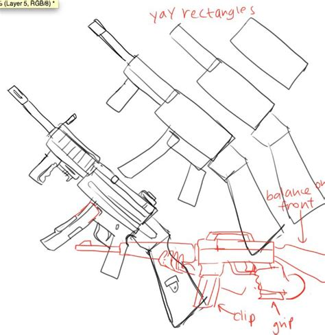 doodle how to make weapon how to draw guns by kelpls graphic