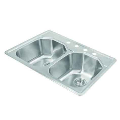 pegasus bowl kitchen sink pegasus top mount 33x22x9 75 4 bowl kitchen