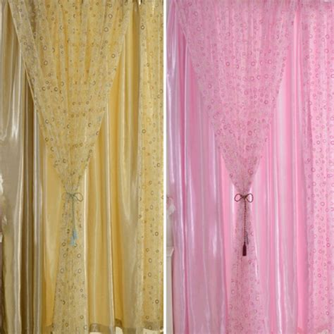 circle curtains circle printed room decor voile window curtain sheer panel