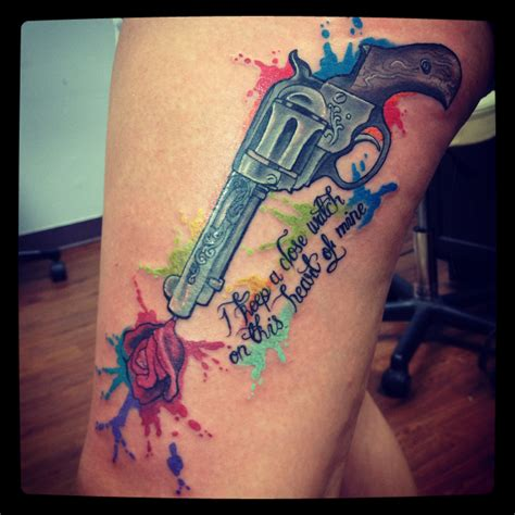 gun water paint splatter tattoos pinterest tattoo