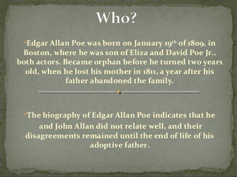 biography of edgar allan poe summary edgar allan poe the black cat by mauricio costa
