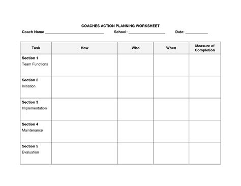 plan worksheet template 15 best images of goal planning worksheet smart