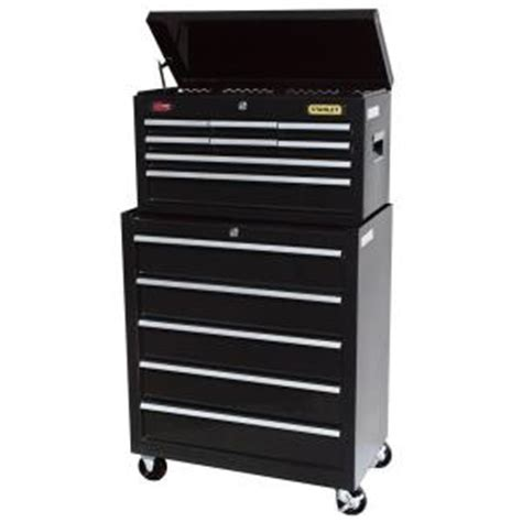 Stanley 13 Drawer Tool Chest And Cabinet Set stanley 24 in w 5 drawer tool cabinet black c 305bs