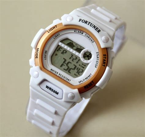 Jam Tangan Pria Original Fortuner K1127g White Yellow jam tangan fortuner pria wanita water resistant banyak