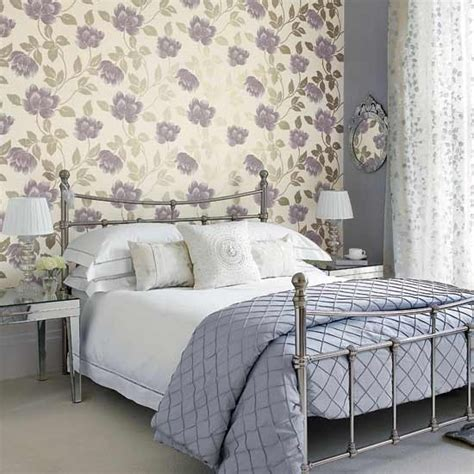bedroom wallpaper ideas uk bedroom with large patterned wallpaper traditional