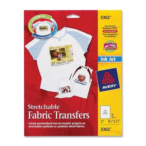 avery iron on transfers how to avery iron on fabric transfer ld products