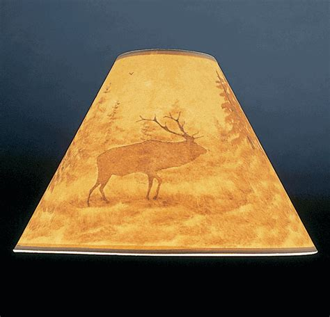 15 inch l shades hand painted elk l shade 15 inch