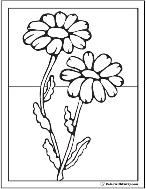 coloring page daisy flower daisy coloring pages 15 customizable pdfs