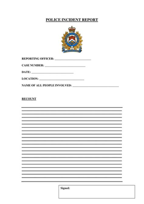Incident Report Exle Ks2 Incident Report Form By Gibboanseo Teaching Resources Tes